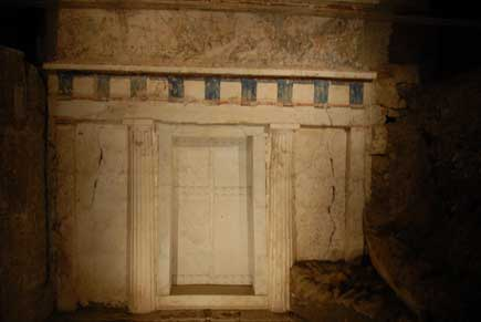 The Royal Tomb of Philip, where Alexander the Great buried his father