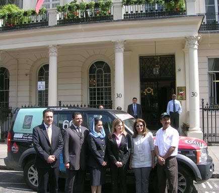 With Yusuf Jameel and members of the Bahrain Embassy in London