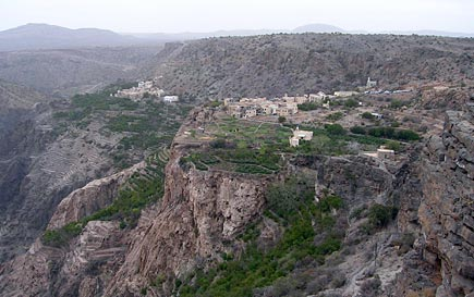 View from Saiq Plain at top of Jebel Akhdar