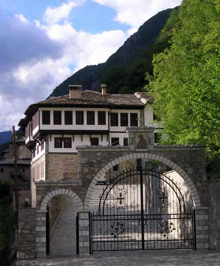 The monastery of St. Jovan Bigorski (John the Baptist), high in the mountains. During the rule of the Ottomans, it was the Muslims from the surrounding villages who would defend the monastery from highway bandits.